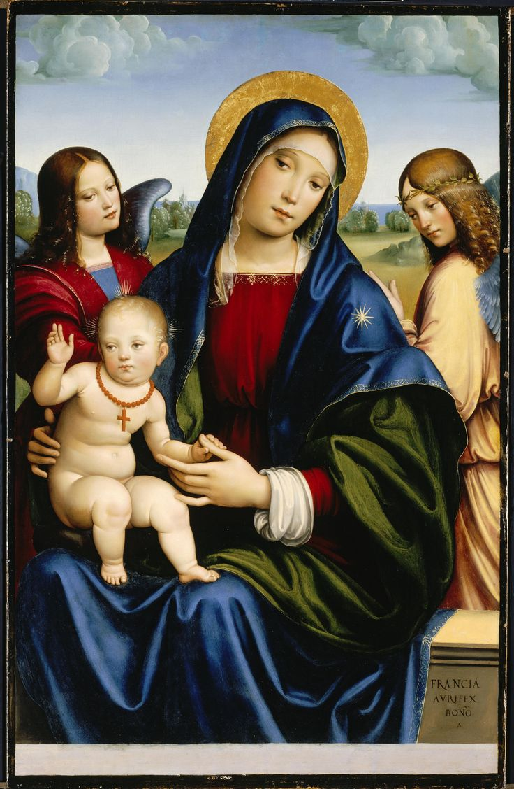 Virgem Maria, Francesco Francia, cerca de 1450, North Carolina Museum of Art, Raleigh, EUA.