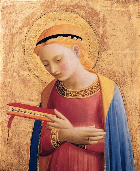 Virgin Mary Annunciate, Fra Angelico, 1431–1433, Detroit Institute of Arts, Detroit, USA.