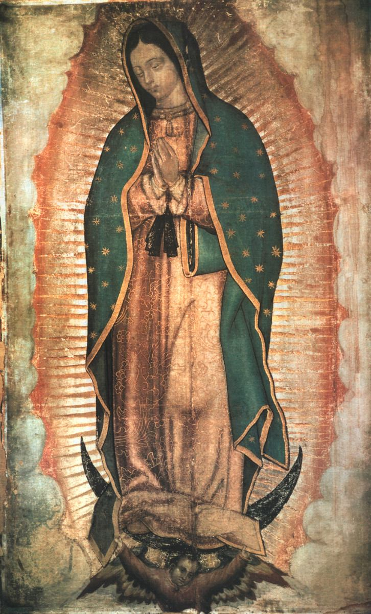 Our lady of Guadalupe, 1531 Basilica of Our Lady of Guadalupe, Tepeyac Hill, Mexico City, Mexico.
