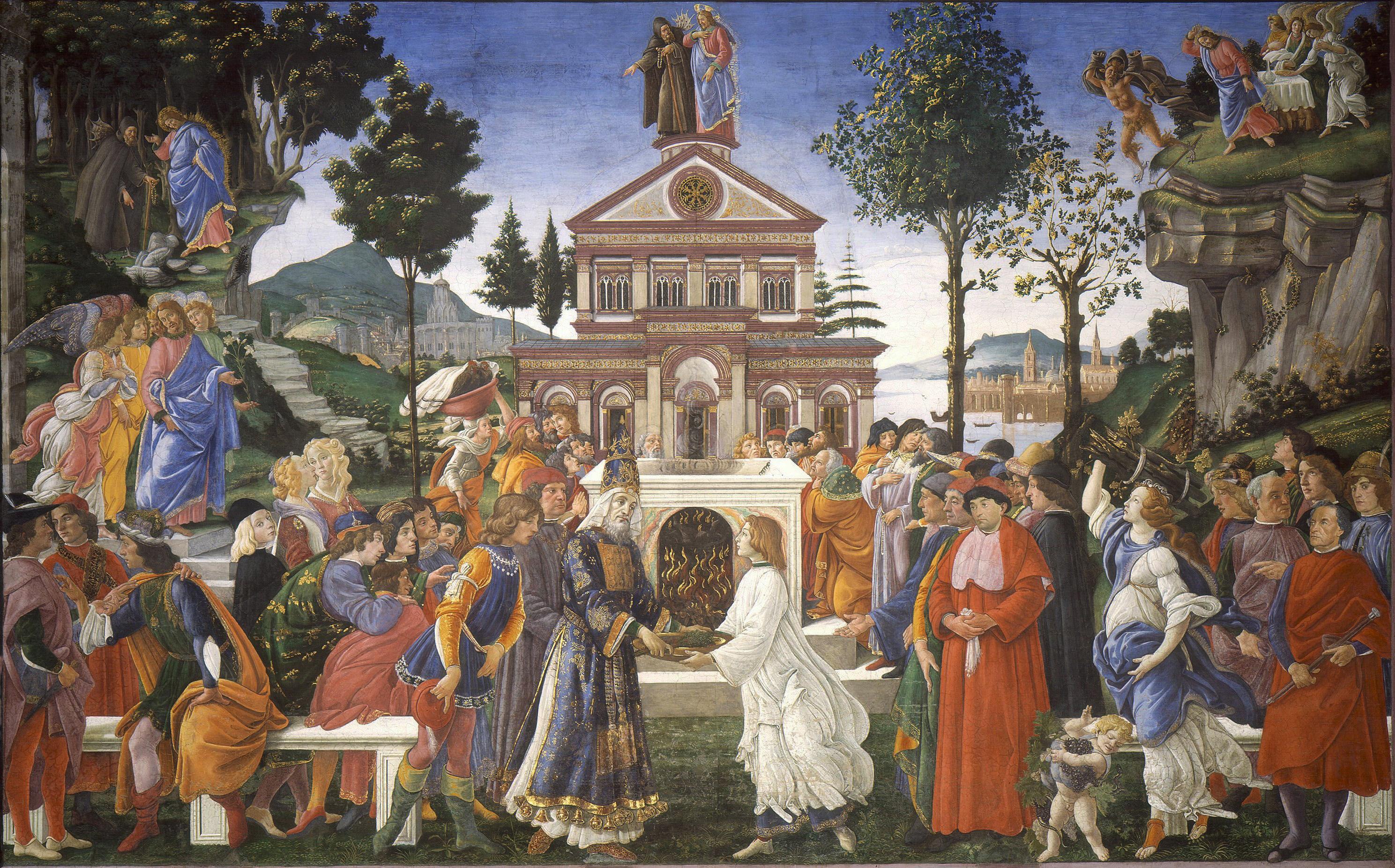 BOTTICELLI TEMPTATION OF CHRIST